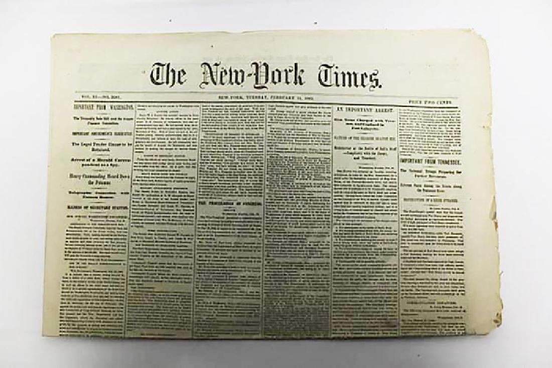 Civil War New York Times 1862, General Stone Charged