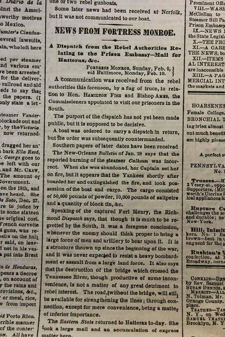 Civil War New York Times 1862, General Stone Charged - 3
