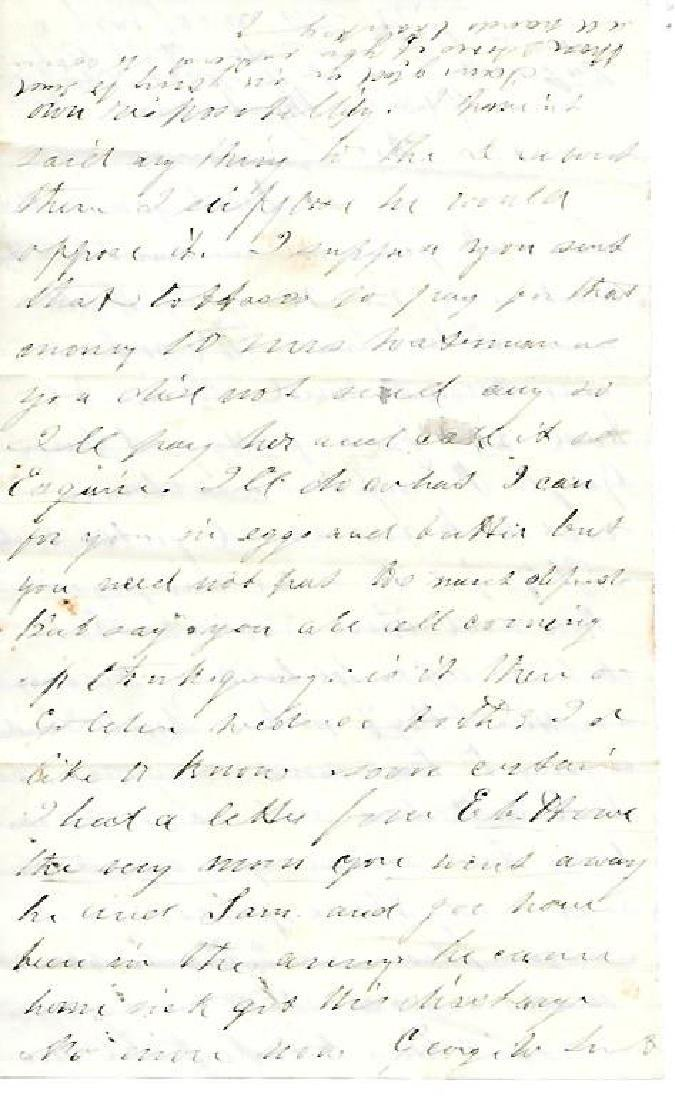 Civil War Letter Regarding Discharge from Service - 2