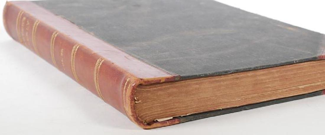 Large Antique Leather Bound Volume of Harper's Weekly - 2