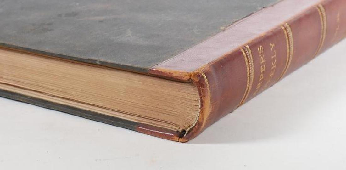 Large Antique Leather Bound Volume of Harper's Weekly - 5