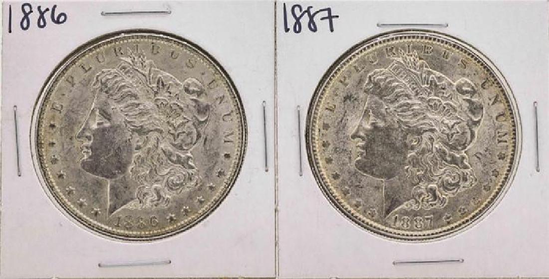 Set of 1886-1887 $1 Morgan Silver Dollar Coins