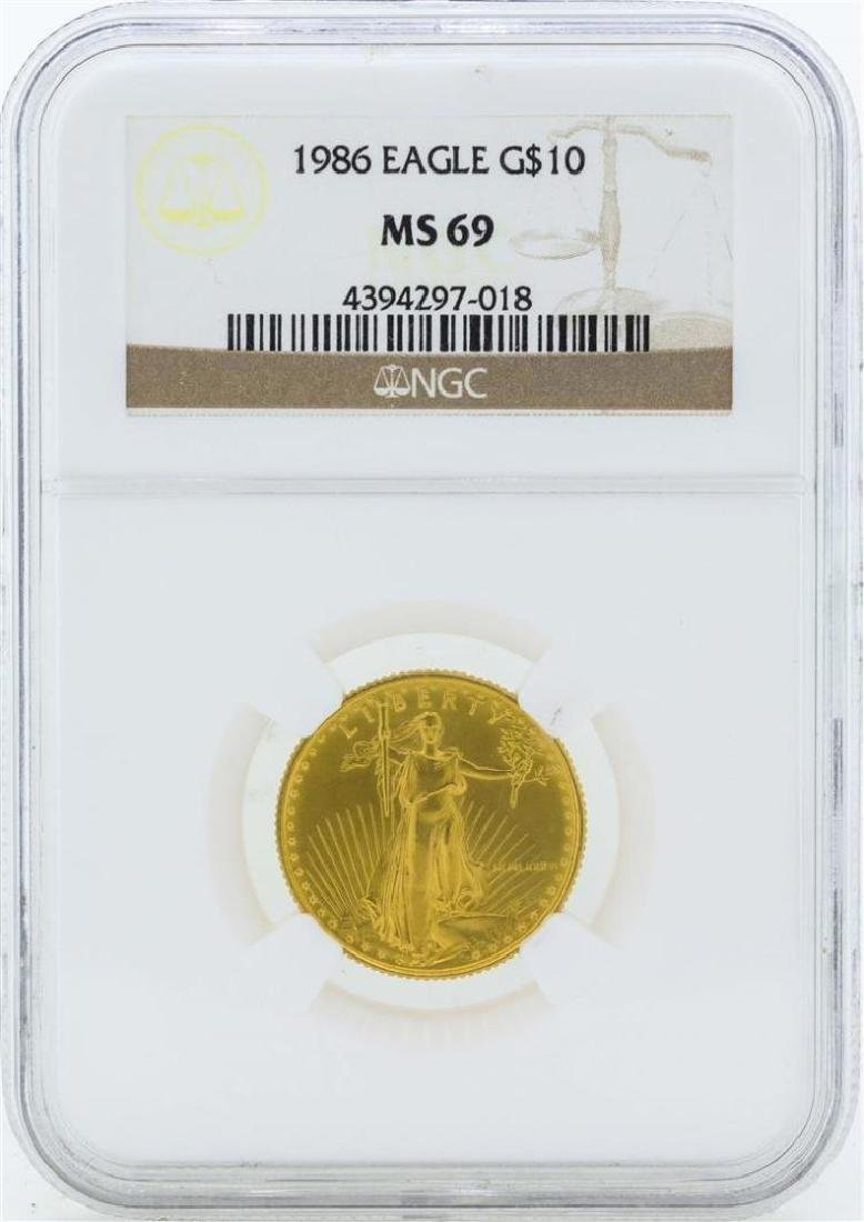 $10 American Gold Eagle Coin NGC MS69