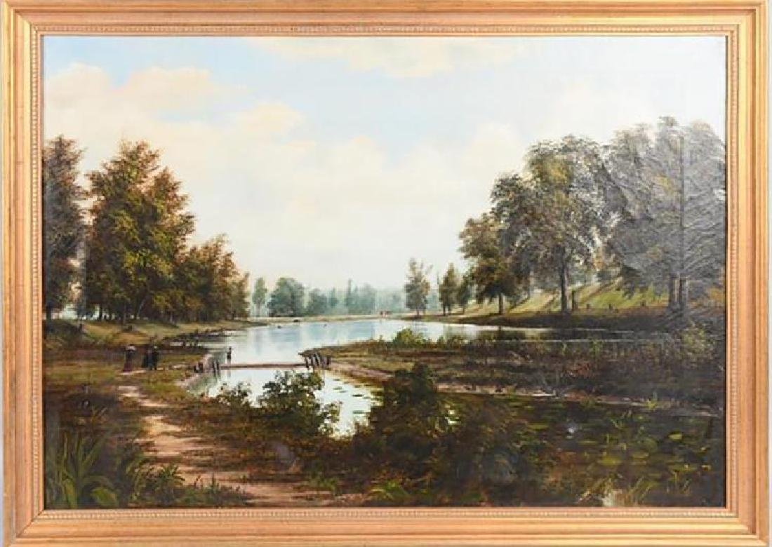 19th Century Southern Landscape Oil Painting by Thomas