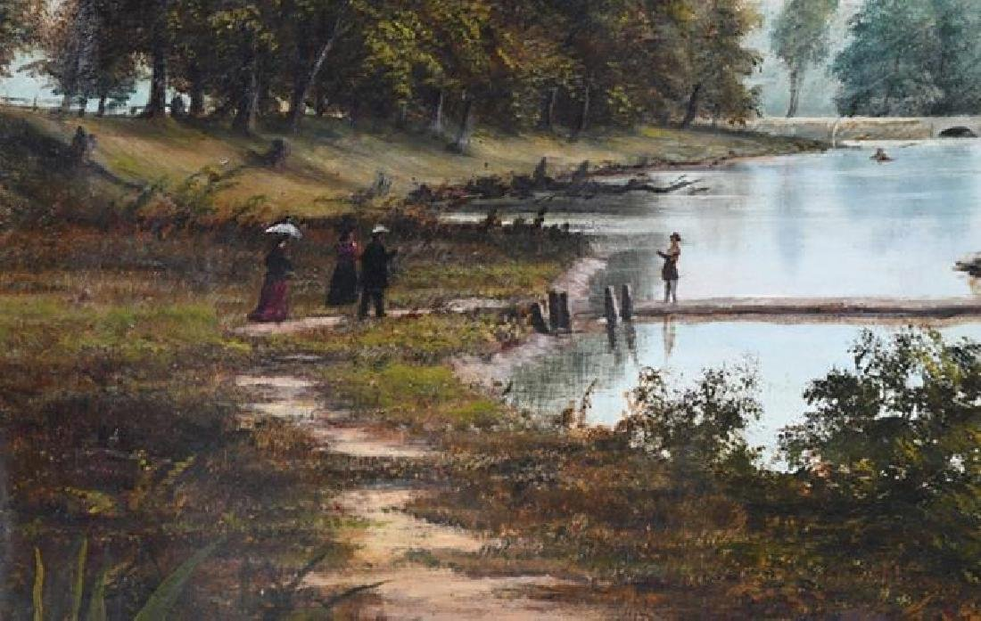 19th Century Southern Landscape Oil Painting by Thomas - 2