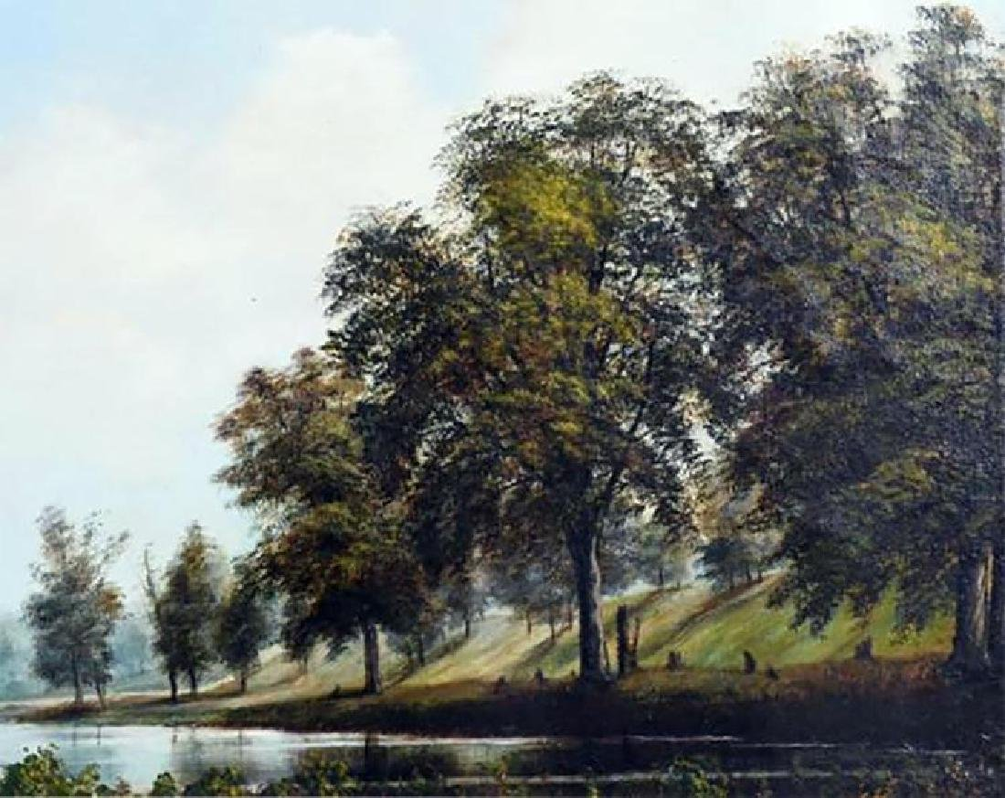 19th Century Southern Landscape Oil Painting by Thomas - 3