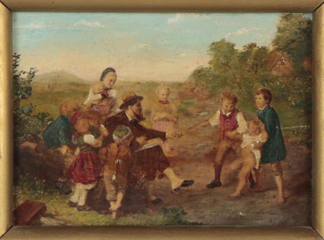 18th Century Oil Painting of a Pastoral Family Scene - 2
