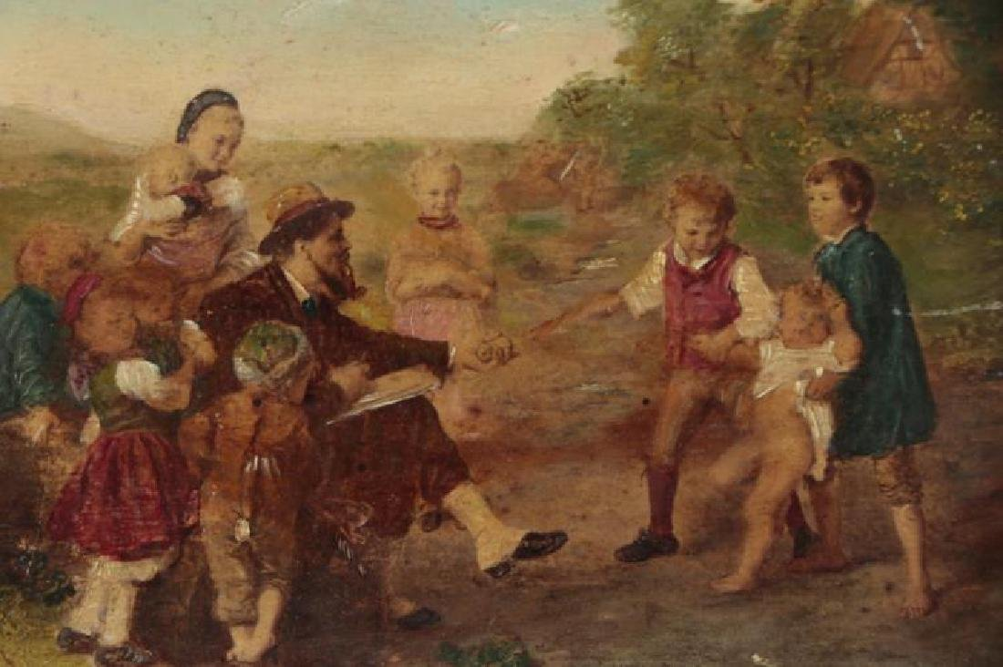 18th Century Oil Painting of a Pastoral Family Scene - 3