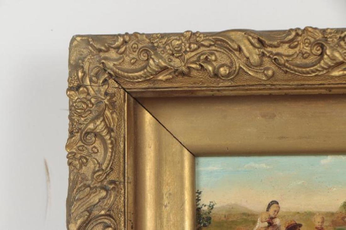 18th Century Oil Painting of a Pastoral Family Scene - 4