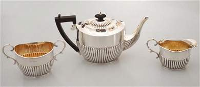 George V Antique English Sterling Silver Tea Set