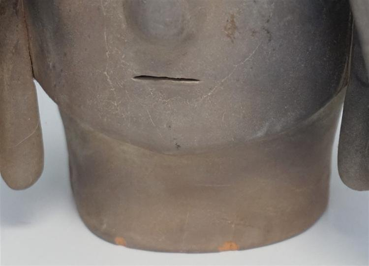 4th Century Haniwa Terracotta Warrior Head - 10