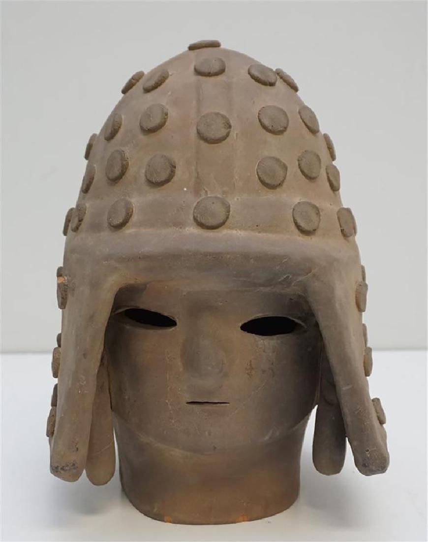 4th Century Haniwa Terracotta Warrior Head
