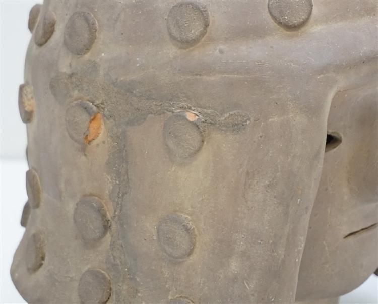 4th Century Haniwa Terracotta Warrior Head - 9