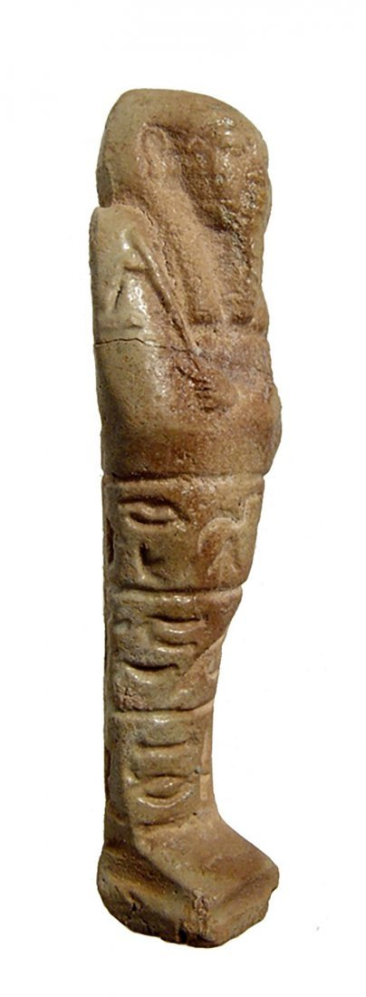 Pale Green Egyptian Faience Ushabti from the Late - 2