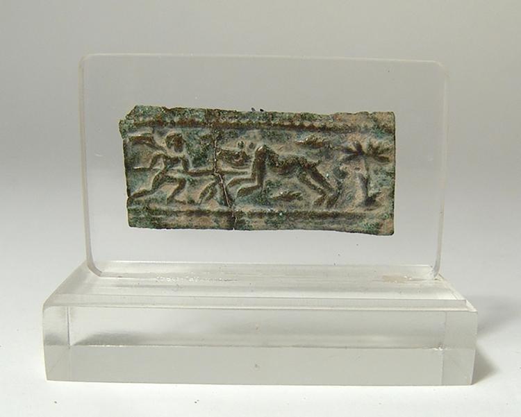 Levantine Bronze Plaque Depicting a Hunting Scene - 2