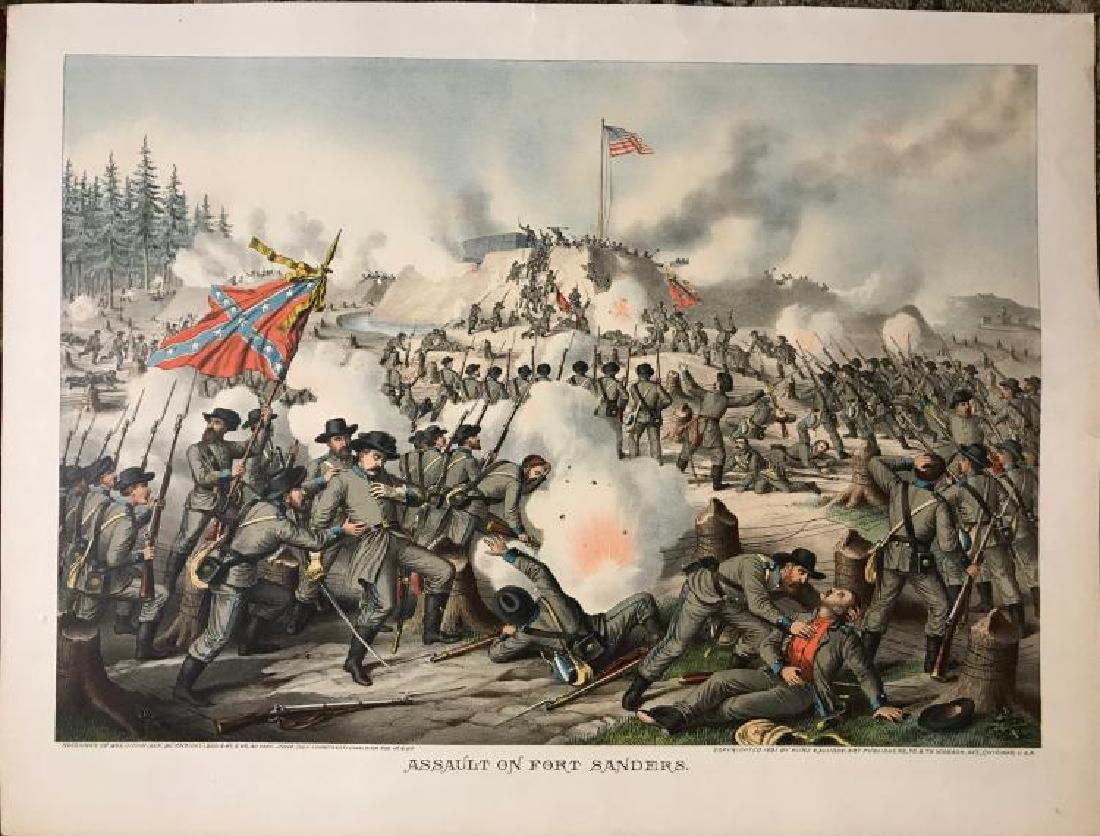 Tennessee Civil War History - Rare Original Kurz &