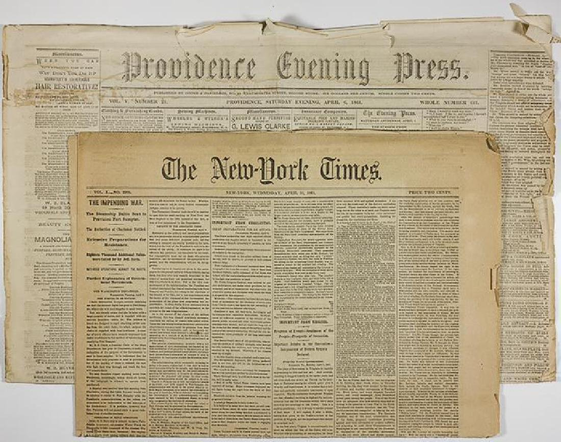 Newspaper Anticipate the Attack on Fort Sumter