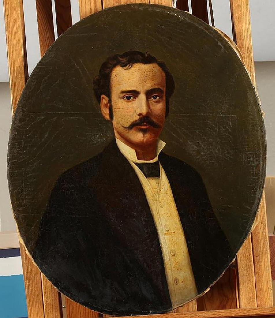 Pair of 19th Century Portrait Oil Paintings American