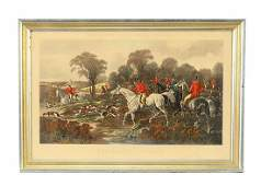 19th Century Antique Hand-Colored Aquatint Etching of
