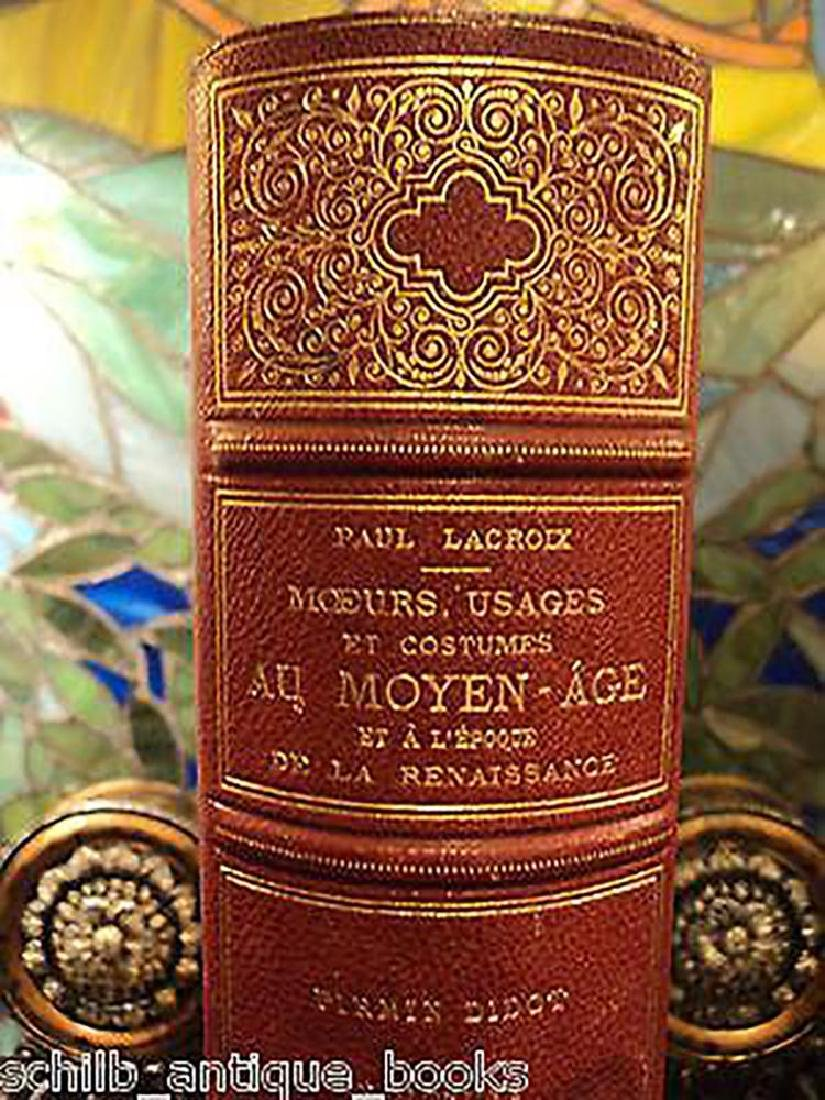 """Antique 1873 Antique Leather Book """"Habits, Uses and"""