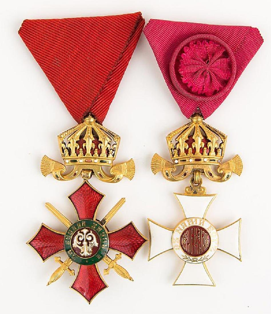 Bulgarian Order Cross Medal Lot of 2