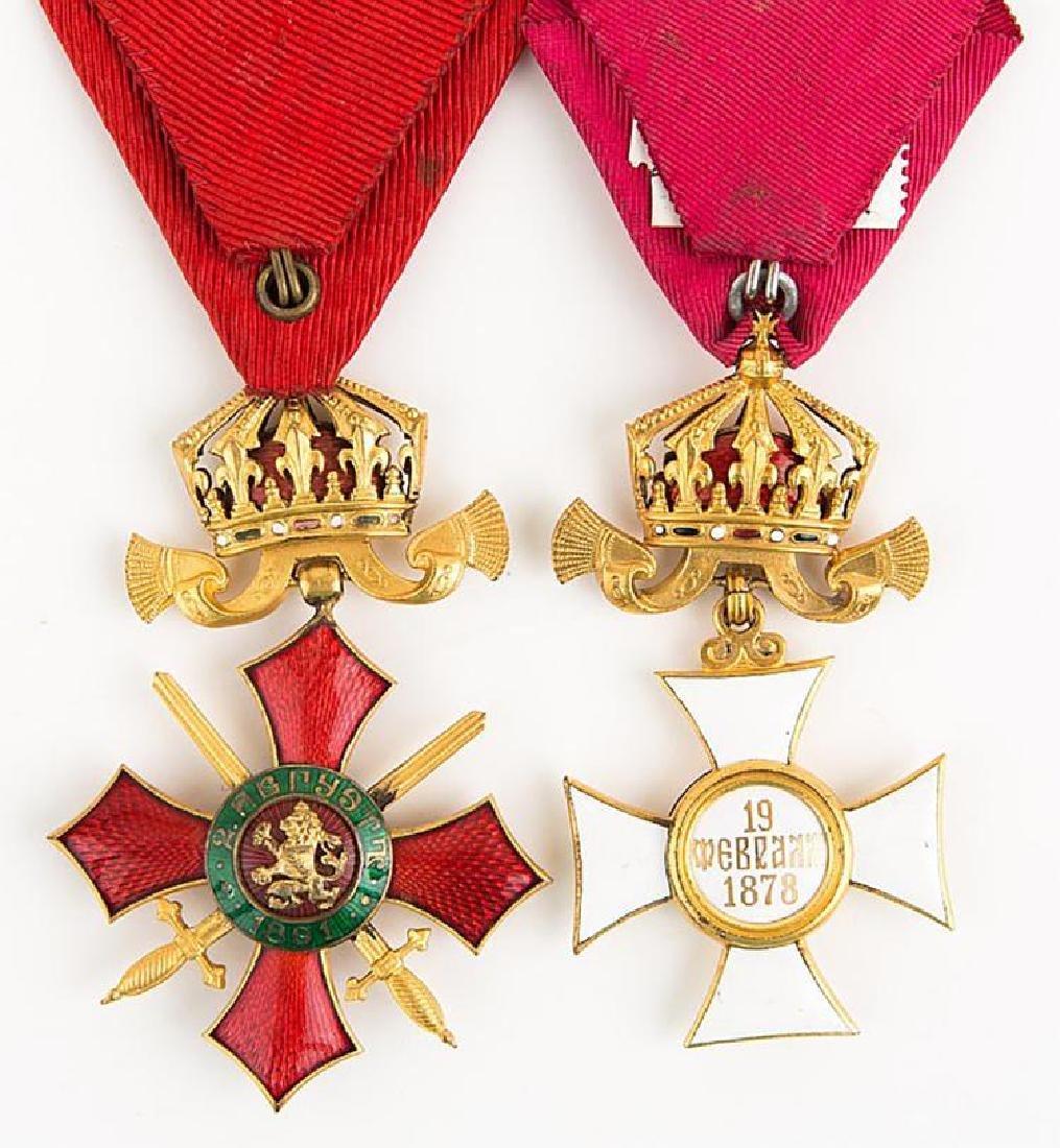 Bulgarian Order Cross Medal Lot of 2 - 3