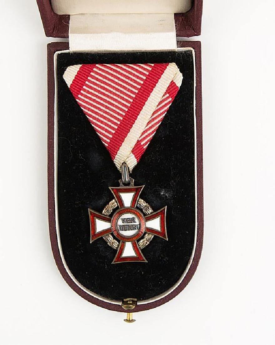 Austria Hungary Military Merit Cross with Box