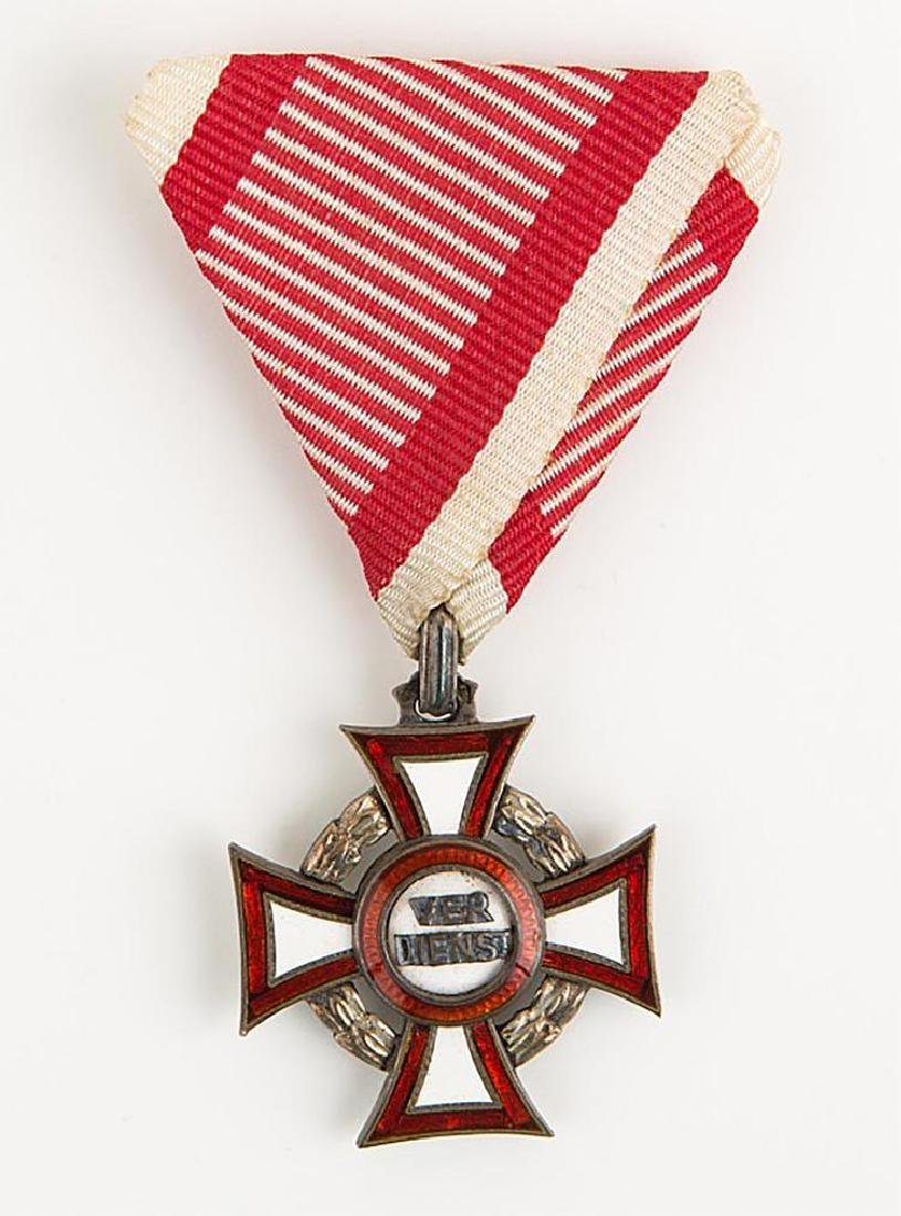 Austria Hungary Military Merit Cross with Box - 2