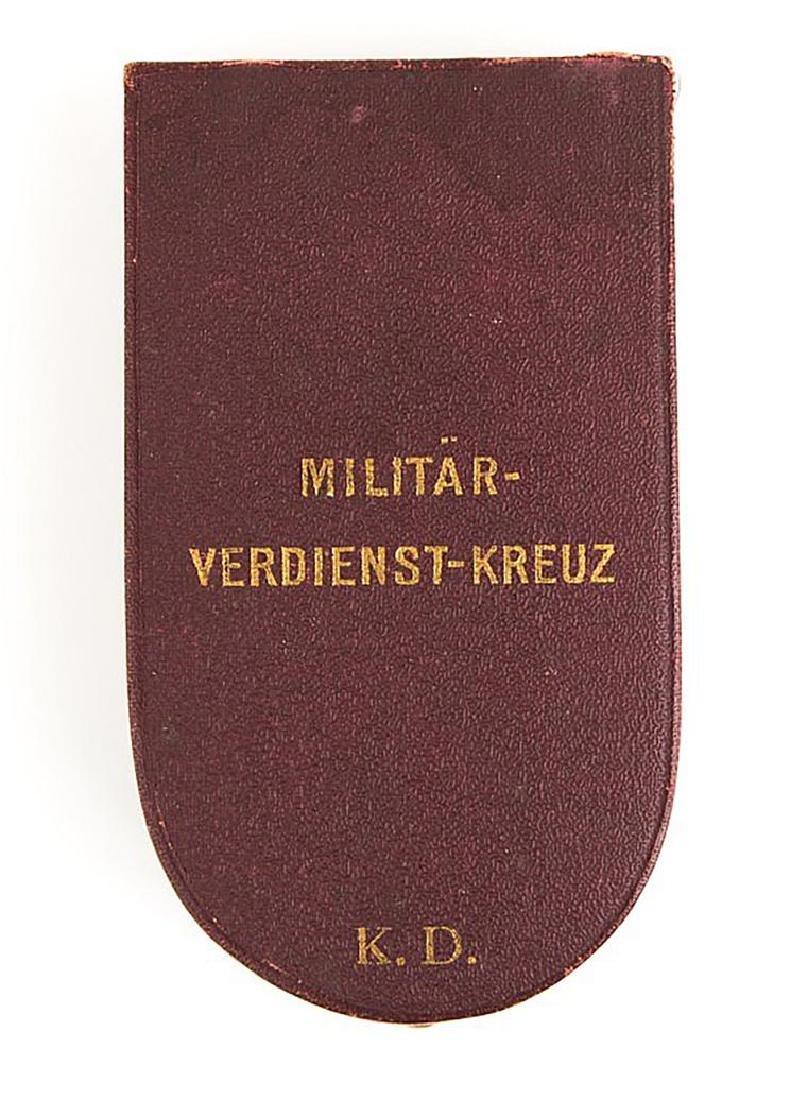 Austria Hungary Military Merit Cross with Box - 4
