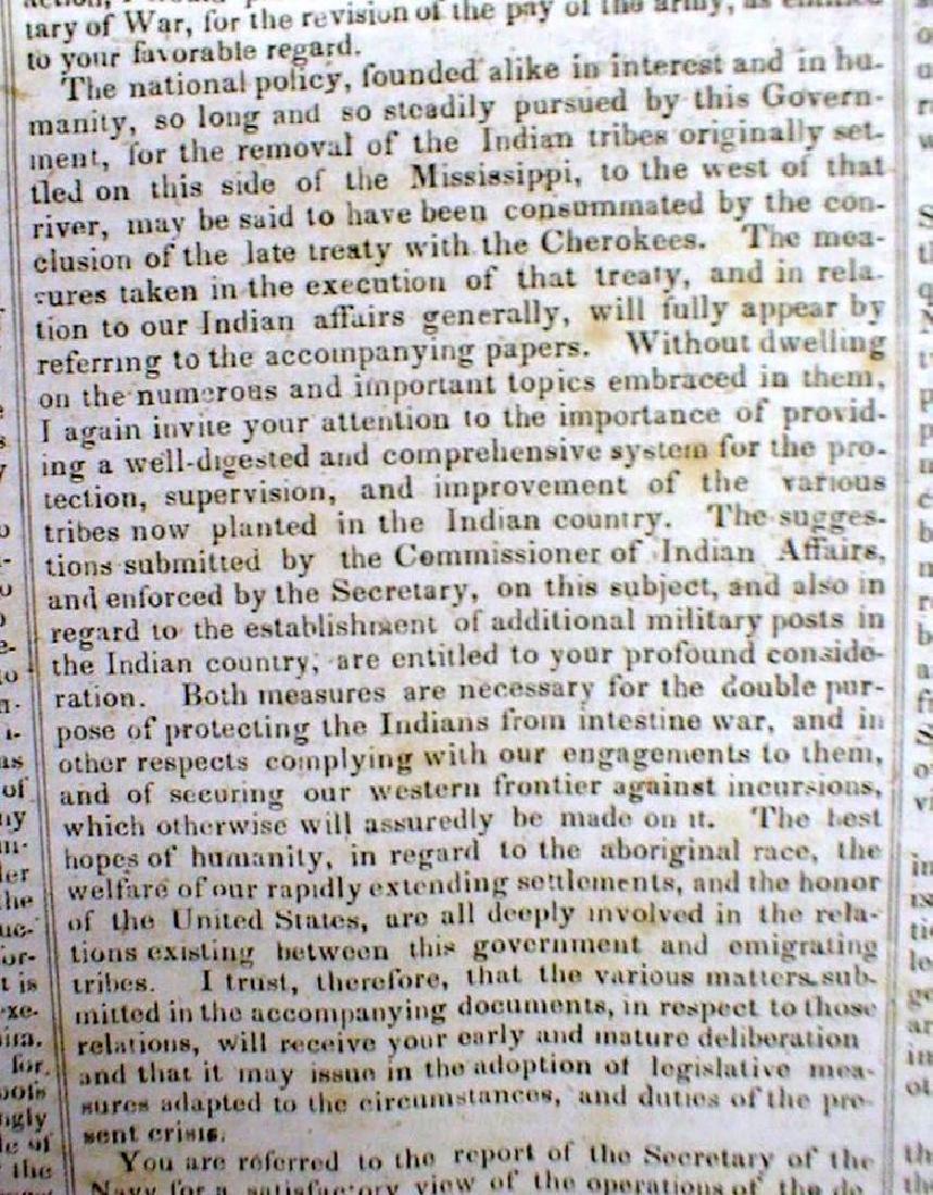 Original 1836 New Yorker Newspaper Containing President - 3