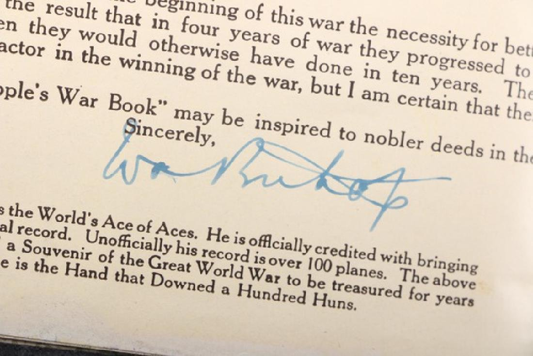 "Autographed Copy of the Important WWI Book Entitled ""A - 4"