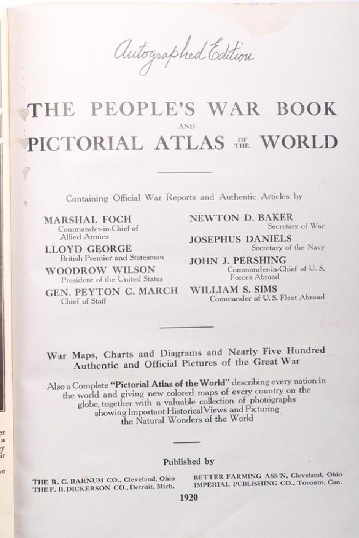 "Autographed Copy of the Important WWI Book Entitled ""A - 5"