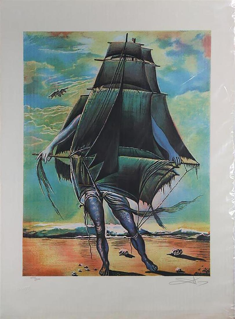 Large Museum Quality Salvador Dali Hand Signed Limited
