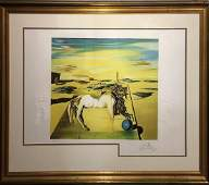 Very Large Museum Quality Salvador Dali Hand Signed