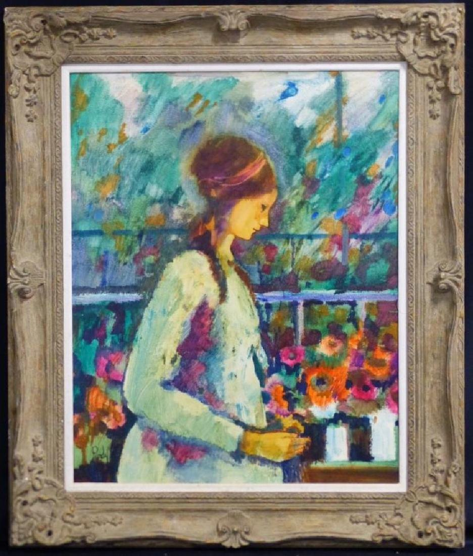 Donald Roy Purdy American Modern Portrait Oil Painting