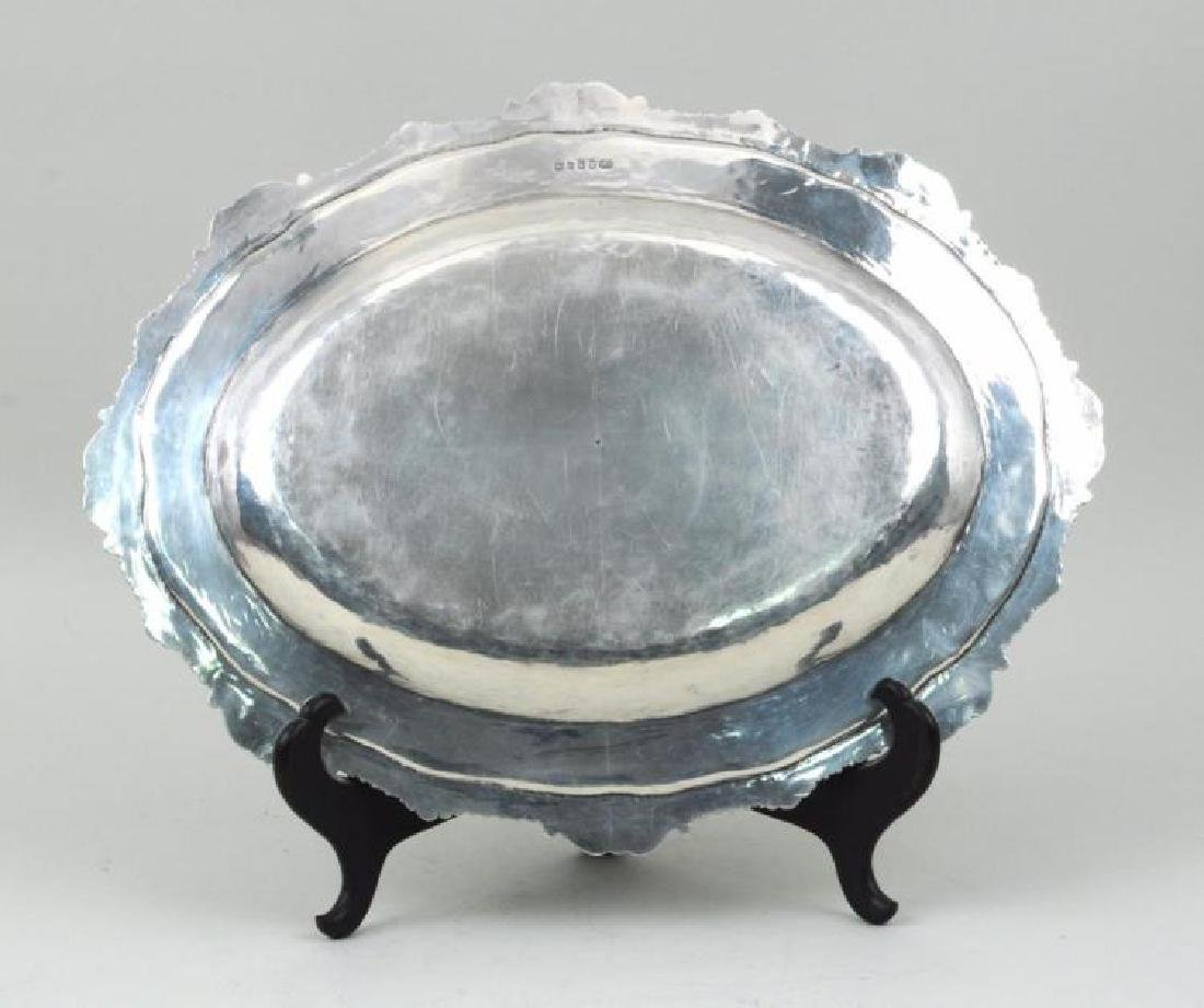 "George III, 17"" Sterling Silver Platter by Renowned - 4"