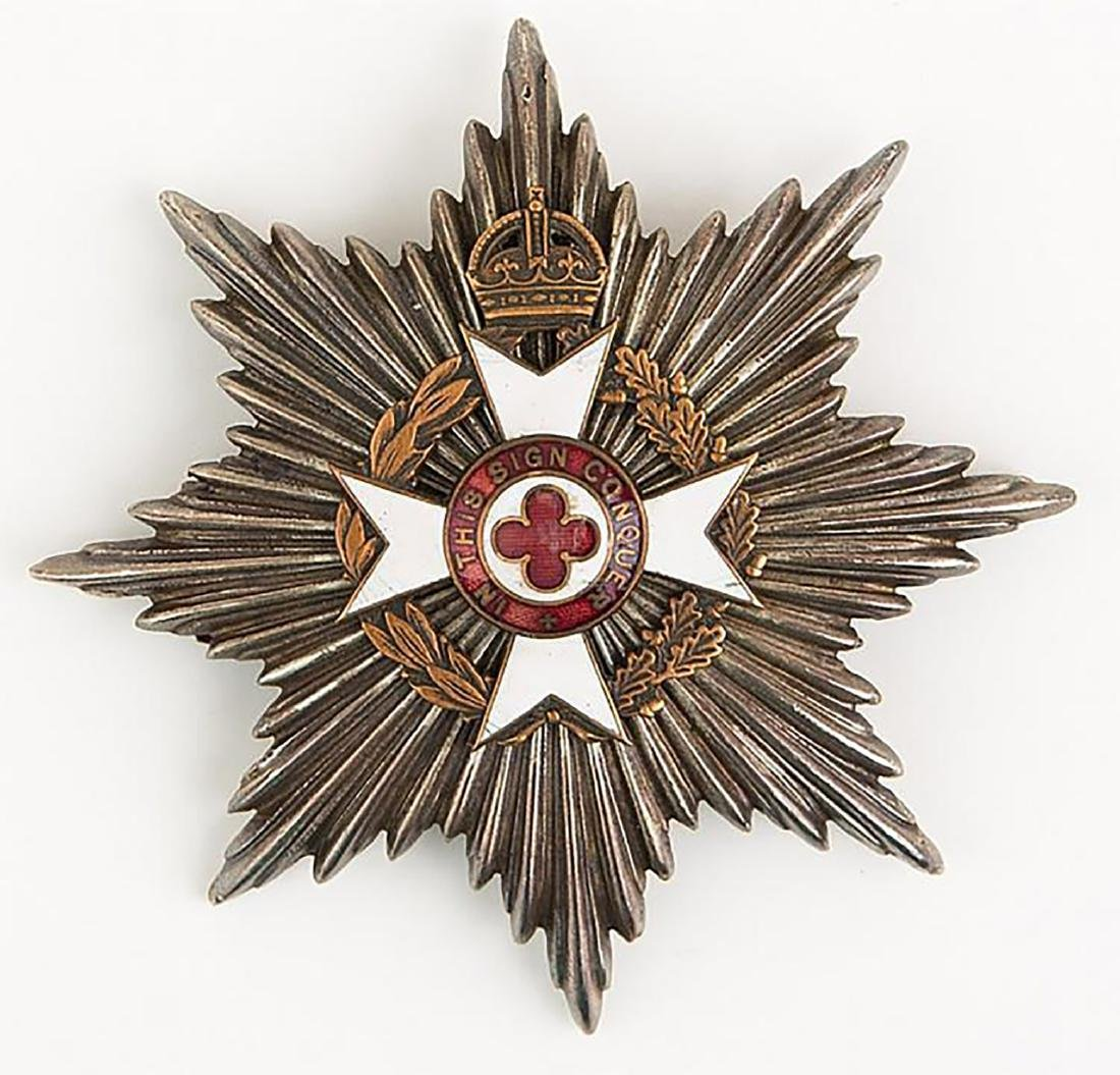 Silver Royal Army Breast Badge with Motto ÒIn This Sign