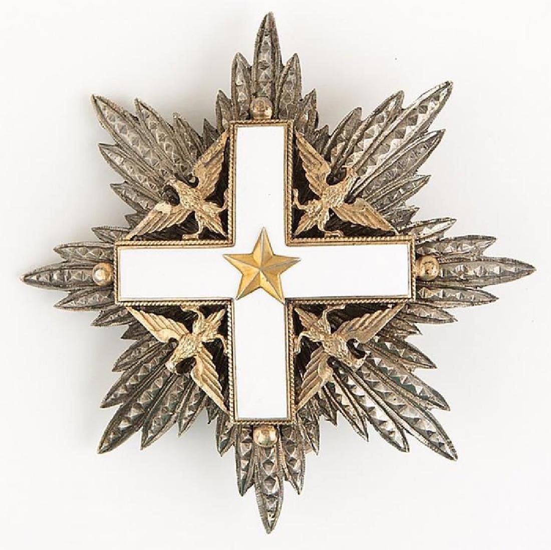 Original Silver Italian Order Of Merit Knight Grand