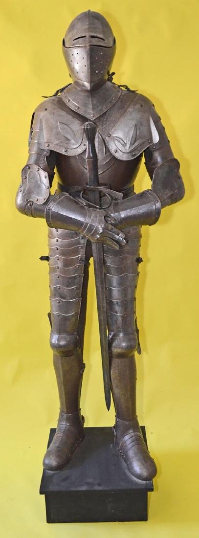 Rare 17th Century French Style Life Size Complete Suit