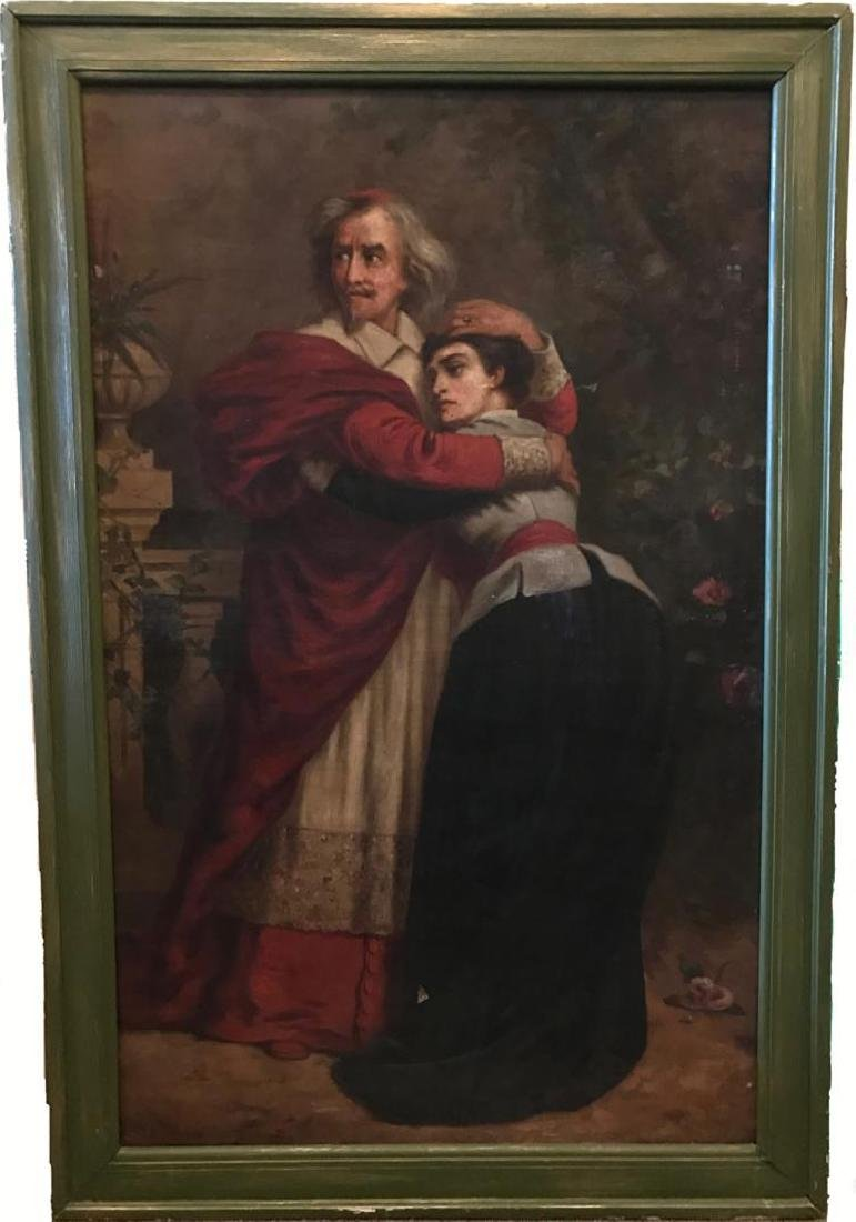 Very Rare Large Oil Painting by Sir Sydney Prior Hall