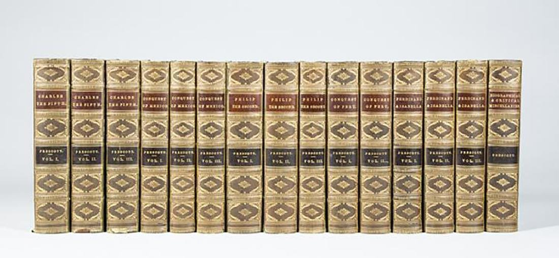 Works of William Prescott 15 Volume Set. J. B.