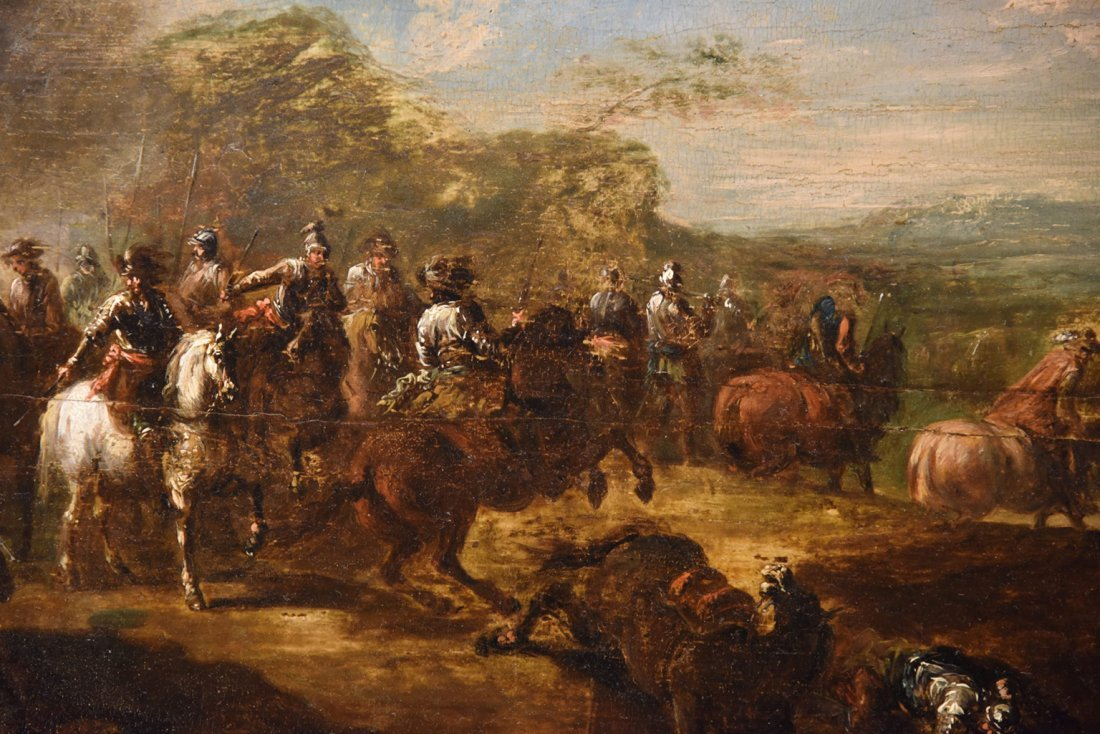 18th Century Painting Entitled Conquistadors After Goya - 4