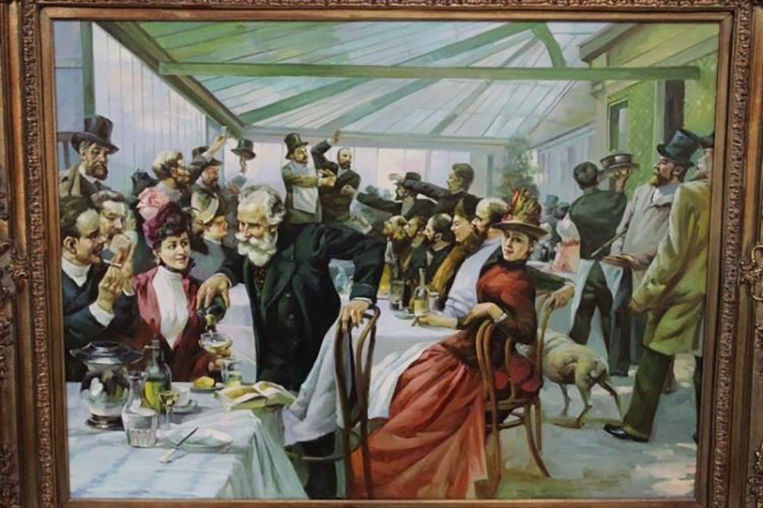 Monumental Oil Painting After William Powell Frith - 2