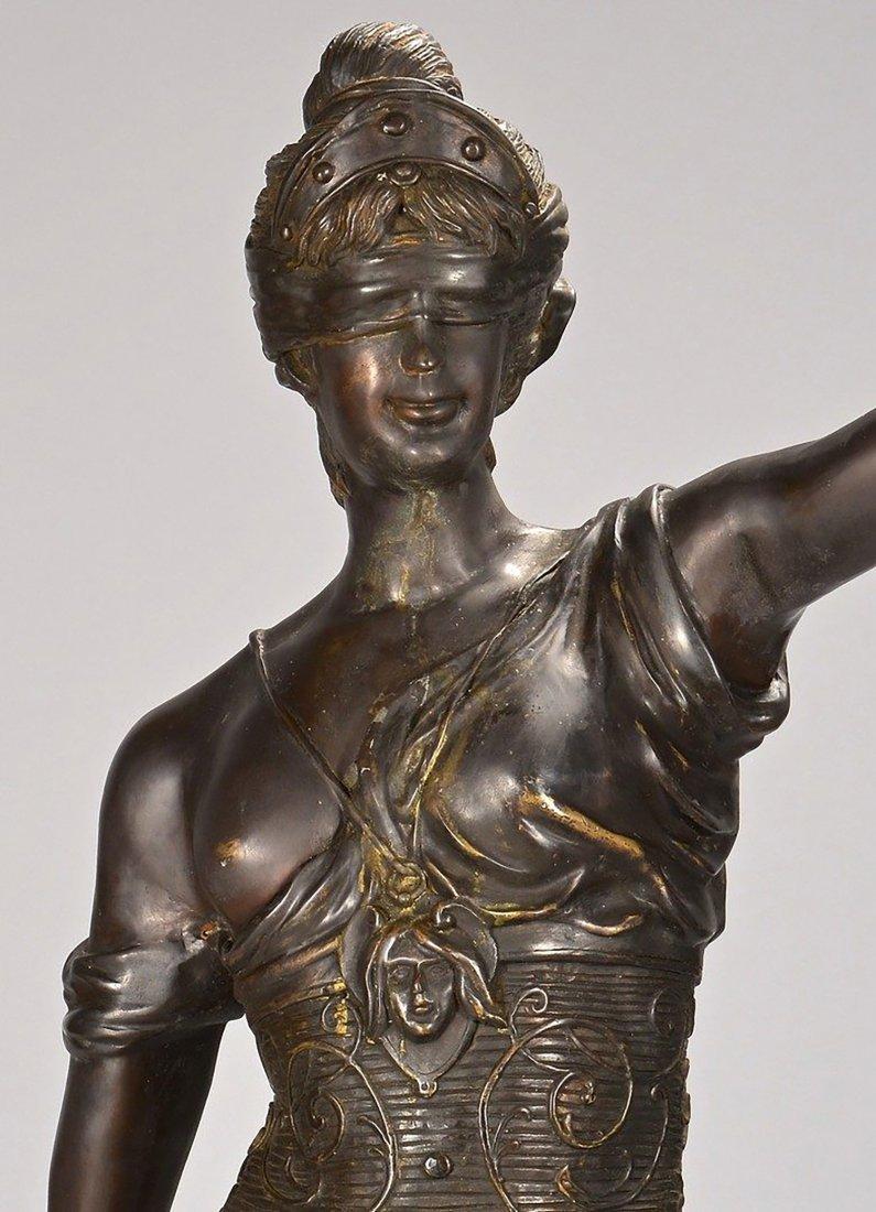19th Century Original Bronze Sculpture of Lady Justice - 2