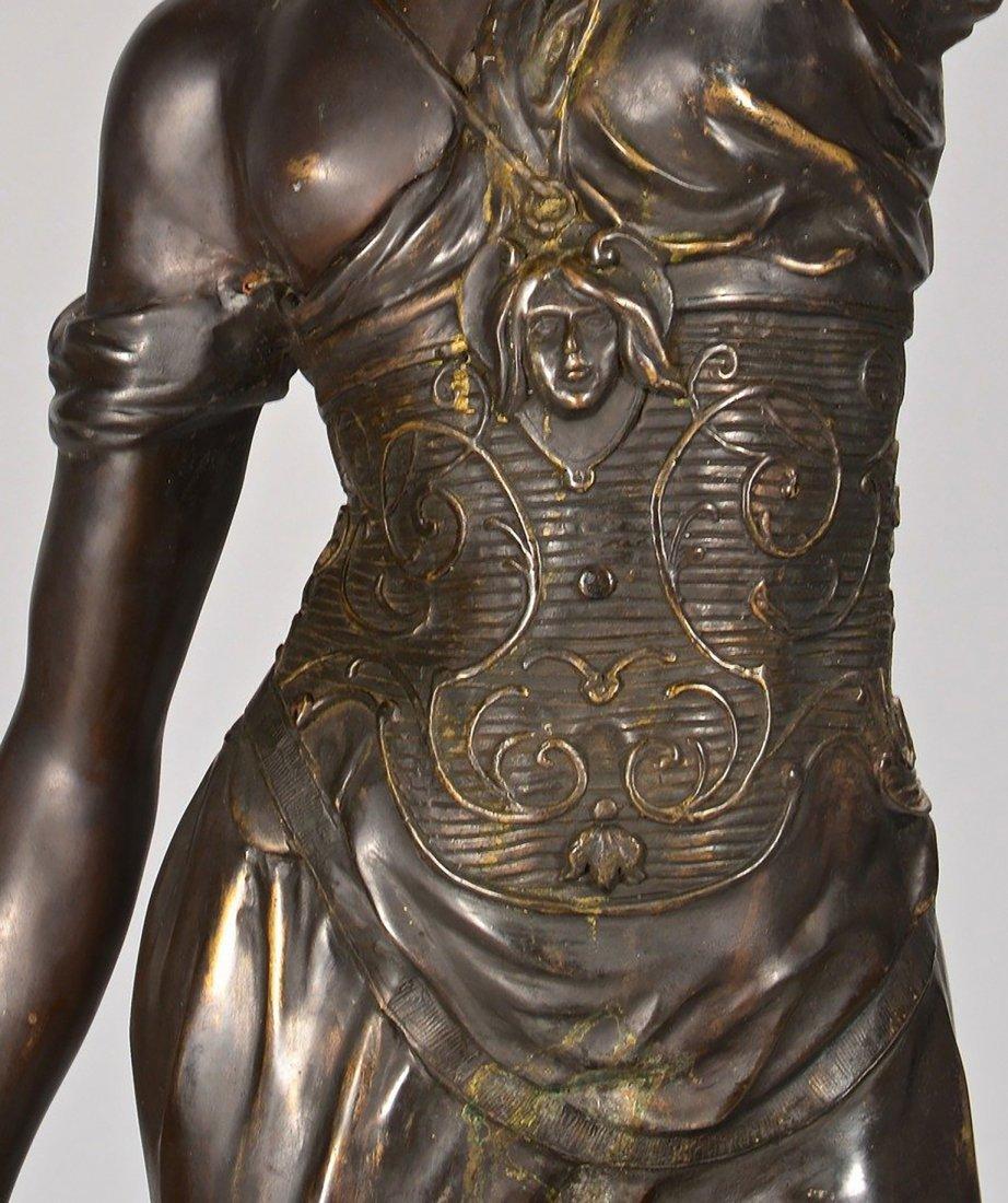 19th Century Original Bronze Sculpture of Lady Justice - 3