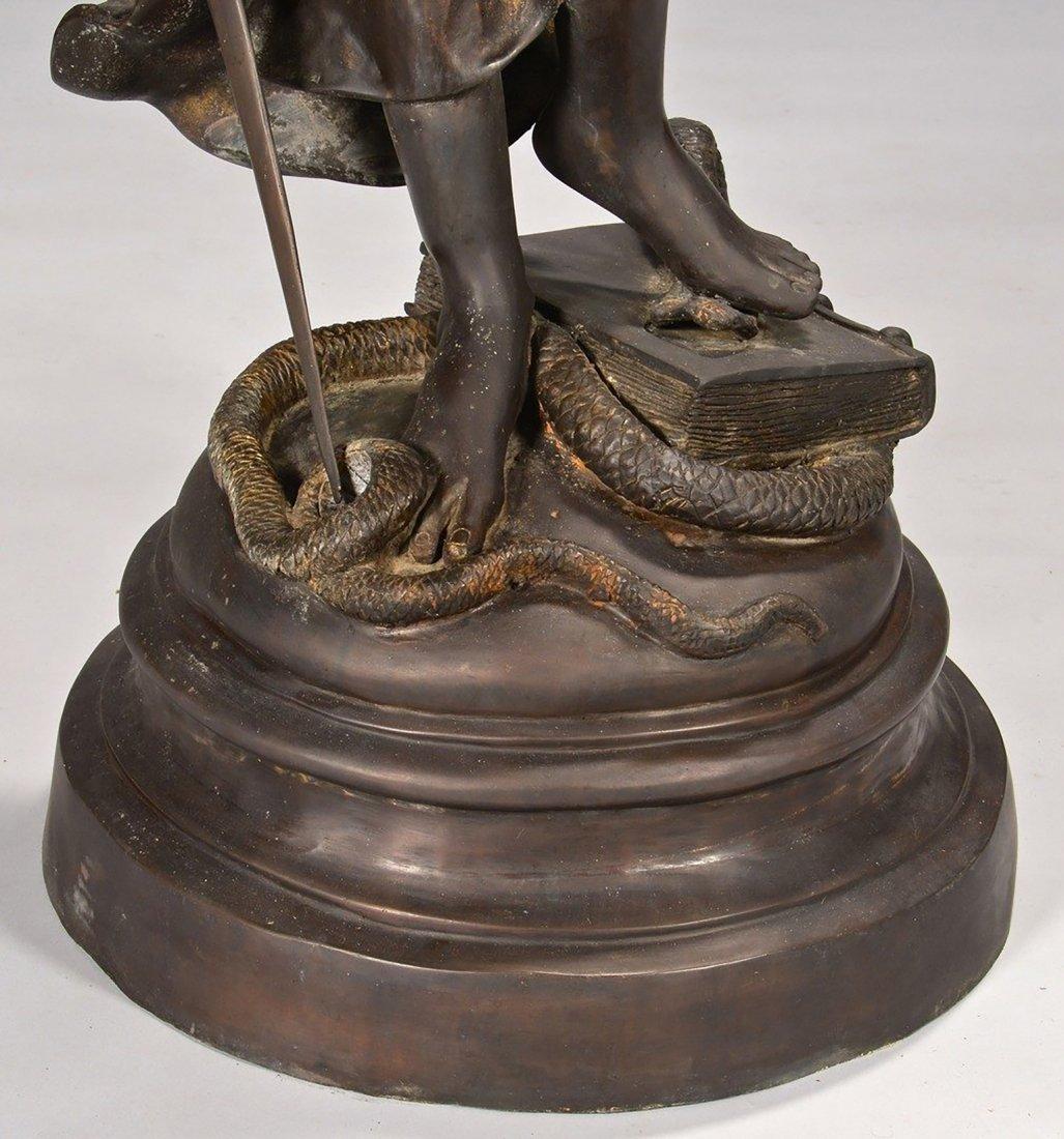 19th Century Original Bronze Sculpture of Lady Justice - 4