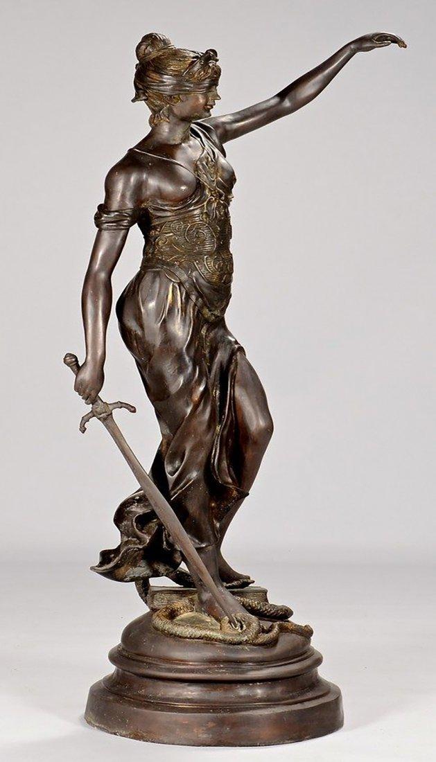 19th Century Original Bronze Sculpture of Lady Justice - 5