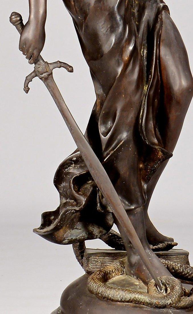 19th Century Original Bronze Sculpture of Lady Justice - 6