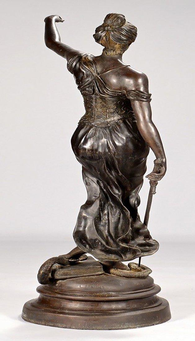 19th Century Original Bronze Sculpture of Lady Justice - 7