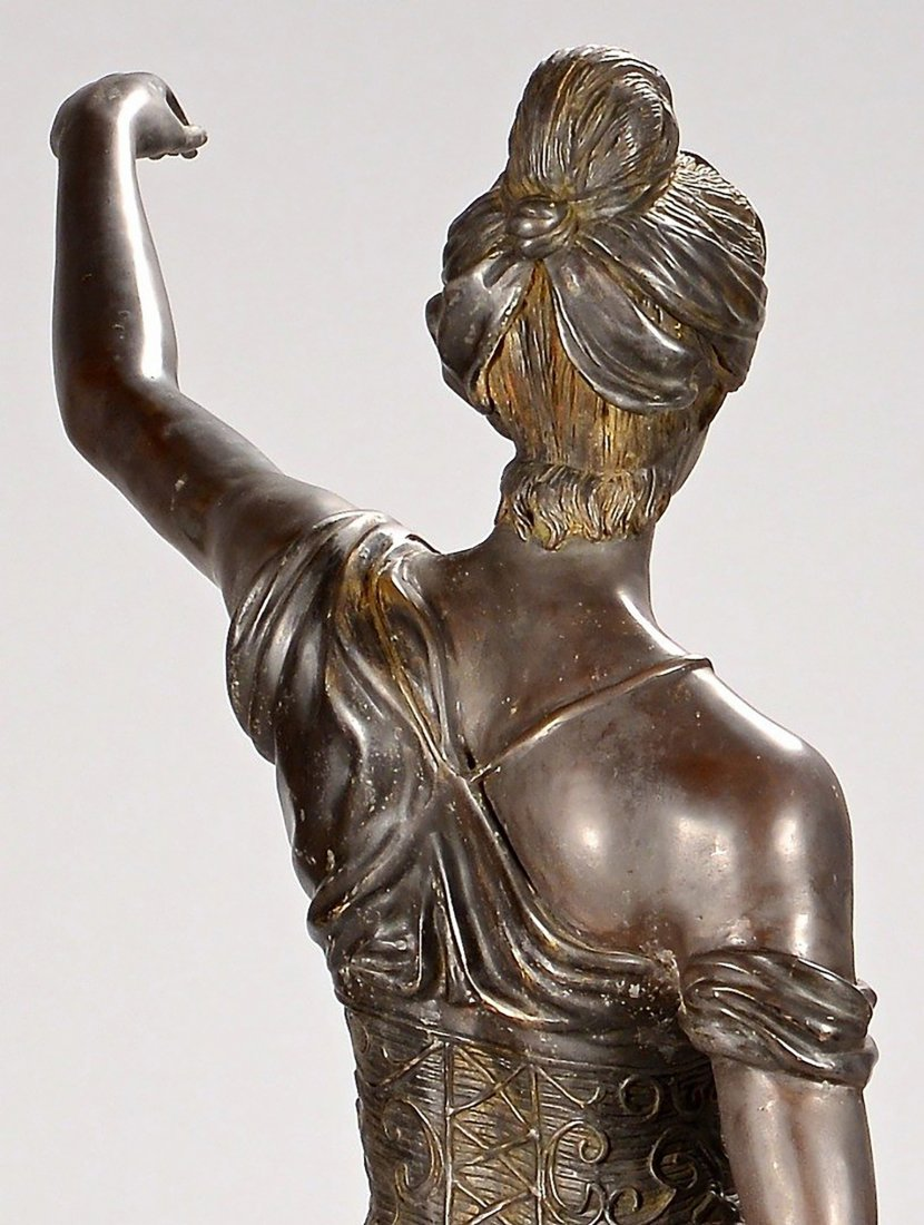 19th Century Original Bronze Sculpture of Lady Justice - 8